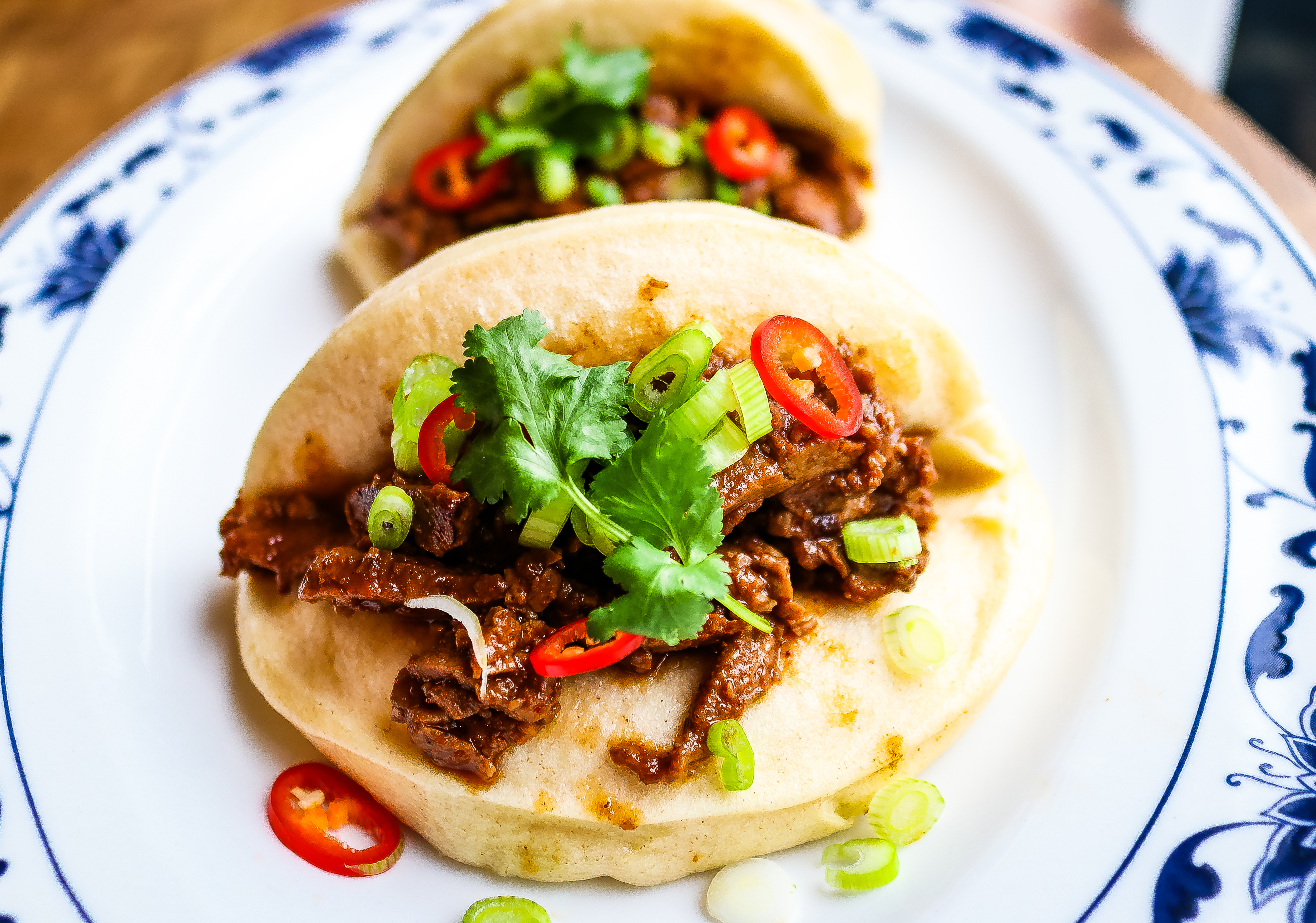 Vietnamese Bao Buns with Sticky Smoked Duck
